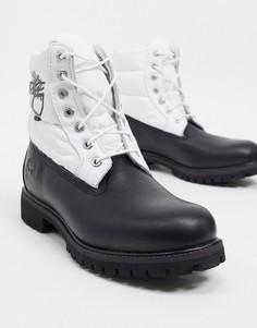 Черные утепленные ботинки премиум-класса высотой 6 дюймов Timberland-Черный