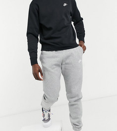 Серые джоггеры в стиле casual с манжетами Nike Tall Club-Серый