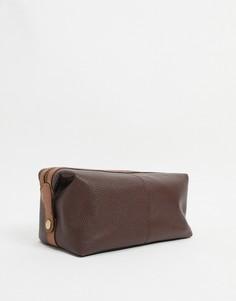 Коричневый кожаный несессер Silver Street-Коричневый цвет
