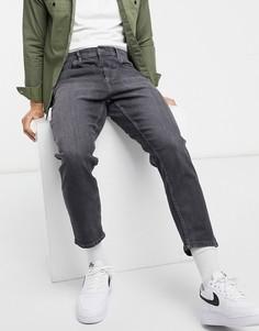 Черные выбеленные суженные джинсы Burton Menswear-Черный цвет