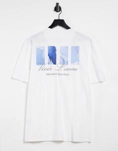 Белая футболка с абстрактным принтом River Island-Белый