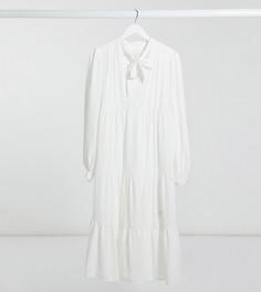 Ярусное платье миди цвета слоновой кости Topshop Maternity-Кремовый