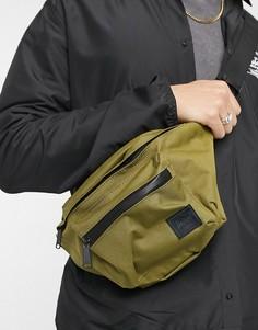 Сумка-кошелек на пояс цвета хаки Herschel Supply Co-Зеленый цвет
