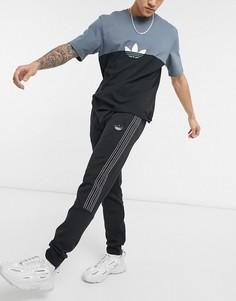 Черные джоггеры с тремя полосками adidas Originals SPRT-Черный цвет