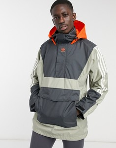 Серая горнолыжная куртка-анорак adidas Snowboarding 10k-Серый