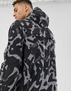 Черная куртка с камуфляжным принтом Nike Running 929423-010-Черный
