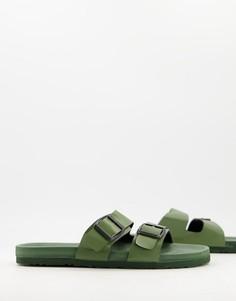 Ультралегкие шлепанцы цвета хаки Brave Soul-Зеленый цвет