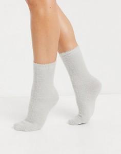 Серые пушистые носки до щиколотки для дома ASOS DESIGN-Серый