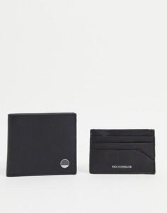 Набор из кожаных бумажника и кредитницы Paul Costelloe-Черный цвет
