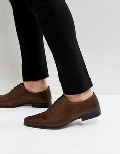 Коричневые кожаные оксфордские туфли River Island-Коричневый