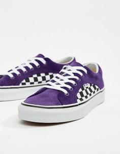 Фиолетовые вельветовые кроссовки Vans Lampin VA38FIU9D-Синий