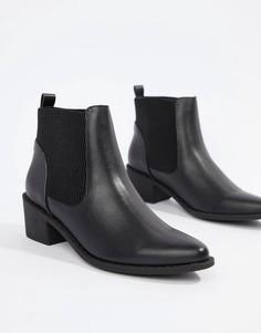 Ботинки на среднем каблуке Truffle Collection-Черный