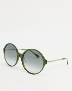 Круглые солнцезащитные очки в стиле oversized Kate Spade Wren-Зеленый цвет