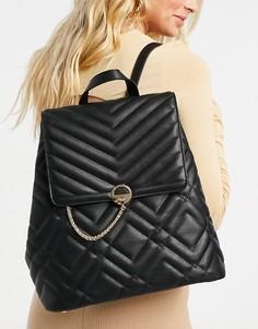 Черный стеганый рюкзак Dune Droo-Черный цвет