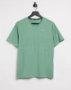 Зеленая футболка Nike Running Breathe-Зеленый цвет