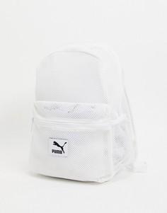 Белый сетчатый рюкзак Puma