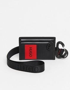 Черная кредитница с ремешком HUGO Kombinat-Черный