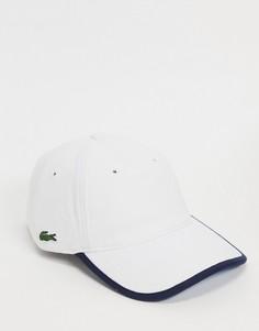 Бейсболка с логотипом сбоку и окантовкой Lacoste-Белый