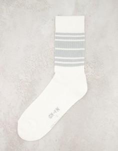 Белые хлопковые носки с принтом-логотипом Hunkemoller X NA-KD-Белый