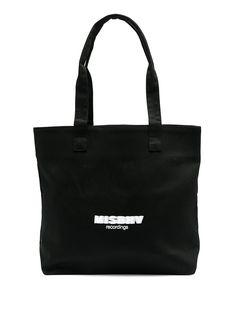 MISBHV сумка-тоут Recordings с логотипом