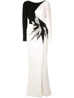 Saiid Kobeisy вечернее платье с бисером