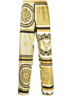 Versace брюки с принтом Baroque
