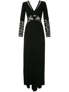 Saiid Kobeisy полупрозрачное вечернее платье