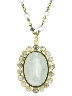 Sylva & Cie подвеска из желтого золота с бриллиантами и венецианским стеклом