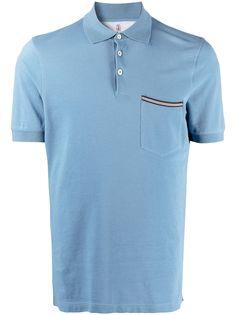 Brunello Cucinelli рубашка поло с карманом