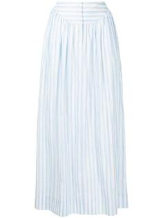 Rosetta Getty юбка макси в полоску
