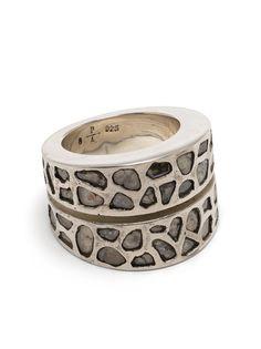 Parts of Four серебряное кольцо с бриллиантами