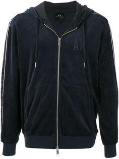 Armani Exchange спортивная куртка с капюшоном и логотипом