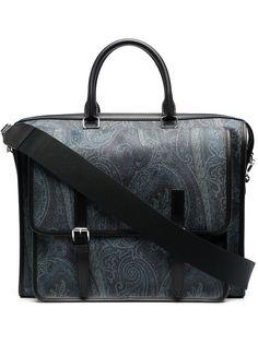 Etro сумка для ноутбука с принтом пейсли