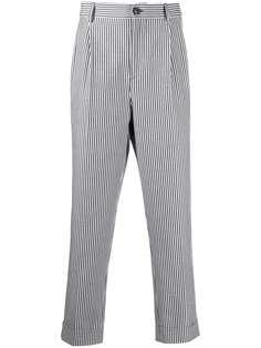 Brunello Cucinelli зауженные брюки в полоску