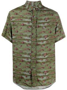 LANVIN рубашка с короткими рукавами и принтом