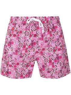 Kiton плавки-шорты с принтом