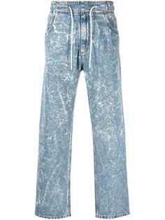 MSGM широкие джинсы из вареного денима