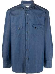 Tagliatore джинсовая рубашка с нагрудными карманами