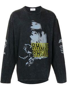 Rhude футболка с длинными рукавами и принтом