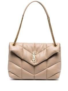 Saint Laurent стеганая сумка на плечо Loulou Puffer