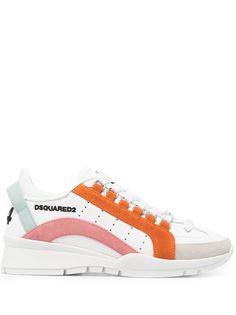 Dsquared2 кроссовки с контрастными вставками