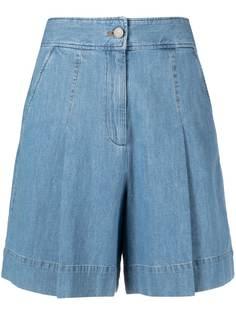 A.P.C. джинсовые шорты с завышенной талией и складками