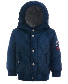 Синяя стеганая куртка-бомбер Gulliver