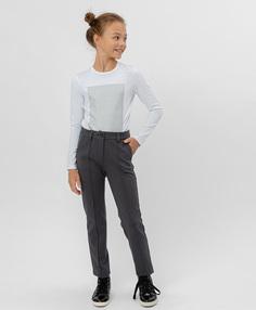 Серые трикотажные брюки Button Blue