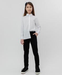Черные трикотажные брюки Button Blue