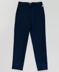 Синие брюки с манжетом Button Blue