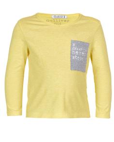 Желтая футболка с длинным рукавом Gulliver