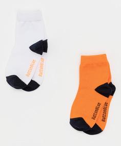 Оранжевые носки Button Blue