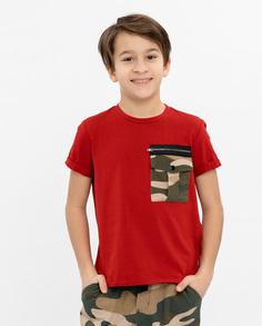 Красная футболка с коротким рукавом Gulliver