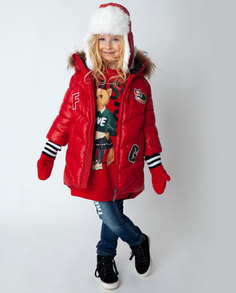 Красное пальто зимнее Gulliver